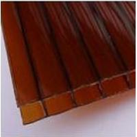 Сотовый поликарбонат  (цвет: терракот)
