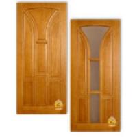 """Межкомнатная филенчатая дверь из массива сосны """"Лотос"""""""