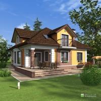 Готовые проекты загородных домов 150 - 200 кв. м.  Проект дома