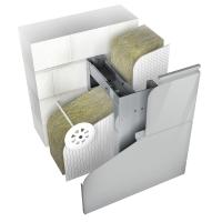 Нержавеющая подсистема для вентфасада Ньютон Системс для облицовки металлокассетами