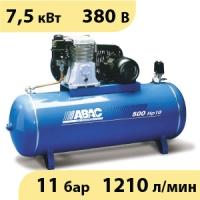 Масляный ременной двухступенчатый компрессор ABAC B7000/500 FT10