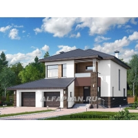 """""""Ирида"""" - стильный современный дом с гаражом на два ав Альфаплан 474E"""