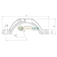 Высоковольтное кабельное крепление  ВКК100/125