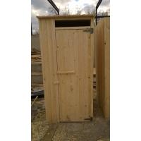 """Туалет Дачный деревянный  """"Простой"""" с крышей односкатной"""