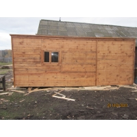 Бытовки деревянные, Хоз-Блок деревянный  2.3*6м.