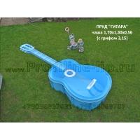 """Пруд """"Гитара"""" садовый пластиковый"""