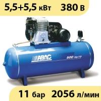 Масляный ременной двухступенчатый компрессор ABAC B7000/500 T7,5