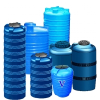 Емкости пластиковые вертикальные Укрхимпласт V-100-8000