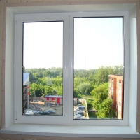 Двухстворчатое окно Grain Lider 58 мм (Россия) с монтажом