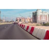 Водоналивные дорожные барьеры - блоки - ограждения  1000, 1200, 2000 мм