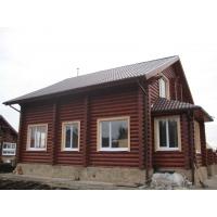 Изготовление деревянных домов из сухого оцилиндрованного бревна