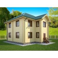 Дом из бруса «Светлана» 11х13м