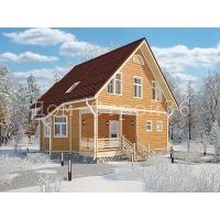 Дом каркасный 8х8,2м