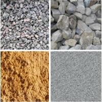Песок; щебень гранитный, гравийный