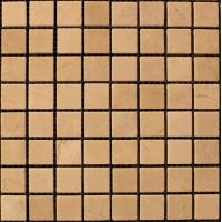 Мозаика из натурального мрамора Crema Marfil чип 20*20 мм