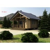 Деревянный дом из клееного бруса площадью 21 кв.м Евлашевский ДОК