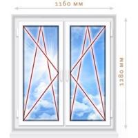 Пластиковое окно 1160х1180. ПВХ профиль VEKA EUROLINE