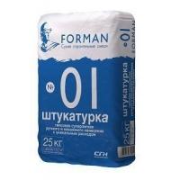 Штукатурка гипсовая ручного и машинного нанесения FORMAN 01 25 кг.