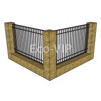 Заборные секции металлические Eco-vip