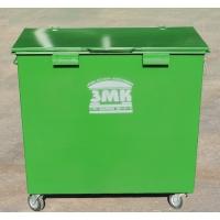 Контейнер для мусоровозов с задней загрузкой  с полезным объёмом 0,8 м3