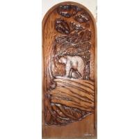 Деревянные резные двери Таежные срубы