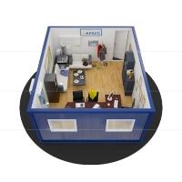 Модульный офис Краус Точка продаж 6.0x5.0 сэндвич Краус