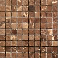 Мозаика из натурального мрамора Сhina Emperador Dark чип 20*20 м