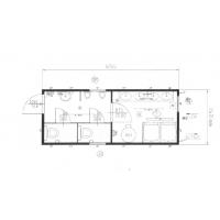Сантехнический блок - модуль (душ + туалеты) CONTAINEX SA20'
