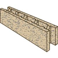 Стеновой строительный Блок Бризолит ЗП (перегородочный)