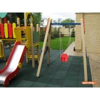 Резиновое покрытие для детских площадок EcoStep 500x500, 40 мм
