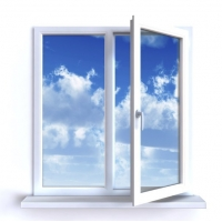 Пластиковое окно двустворчатое серия дома 1-507