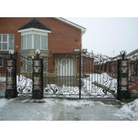 Ворота металлические, кованные