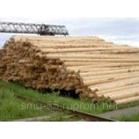 Опоры деревянные лиственница, сосна   8, 9,10, 11,13 метров