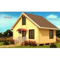 Деревянные дома из клееного бруса S=54 кв.м. Евлашевский ДОК