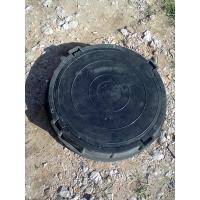 Канализационный (смотровой) люк полимерпесчанный, садовый черный