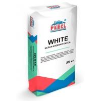 Белая, водостойкая, усиленная клеевая смесь Perel WHITE