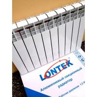 Радиатор алюминий 50080 185ватт 4-6-8-10-12секц LONTEK