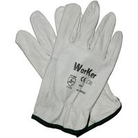 Перчатки кожаные утепленные с искусственным мехом WorKer per2220