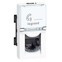 Розетка телефонная Legrand Mosaic RJ11 (1 модуль)