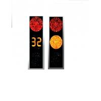Светофор транспортный светодиодный плоский с нанокозырьками  ПТ.1.2-М (D300мм) /ПТ 1.1. (D200мм)