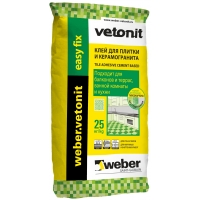 Клей для плитки и керамогранита Weber Vetonit Easy fix