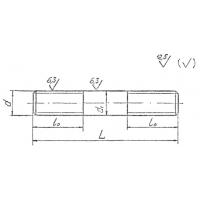 Шпильки для фланцевых соединений по ОСТ 26-2040-96