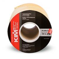 Уплотнитель самоклеющийся для окон и дверей KIM TEC уплотнитель D профиль   белый, коричневый, черный