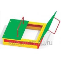 Песочницы для детей с крышкой 1,5х1,5 м