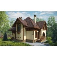Проект двухэтажного кирпичного дома 10х13  - ЭДНА