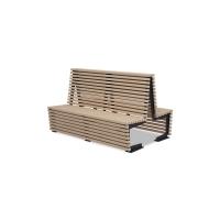 Скамейки для торговых центров «Фаворит» со спинкой