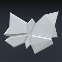 Гипсовая 3D панель - Бабочки