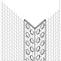 Профиль угловой ПВХ с армирующей сеткой 10х15/2500 Бауком