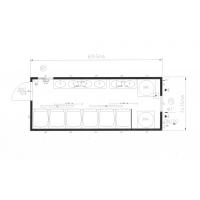 Сантехнический блок - модуль (душевые кабины) CONTAINEX SA20'