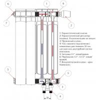 Радиатор Rifar Рифар Monolit 350 х14 сек нп прав (MVR)